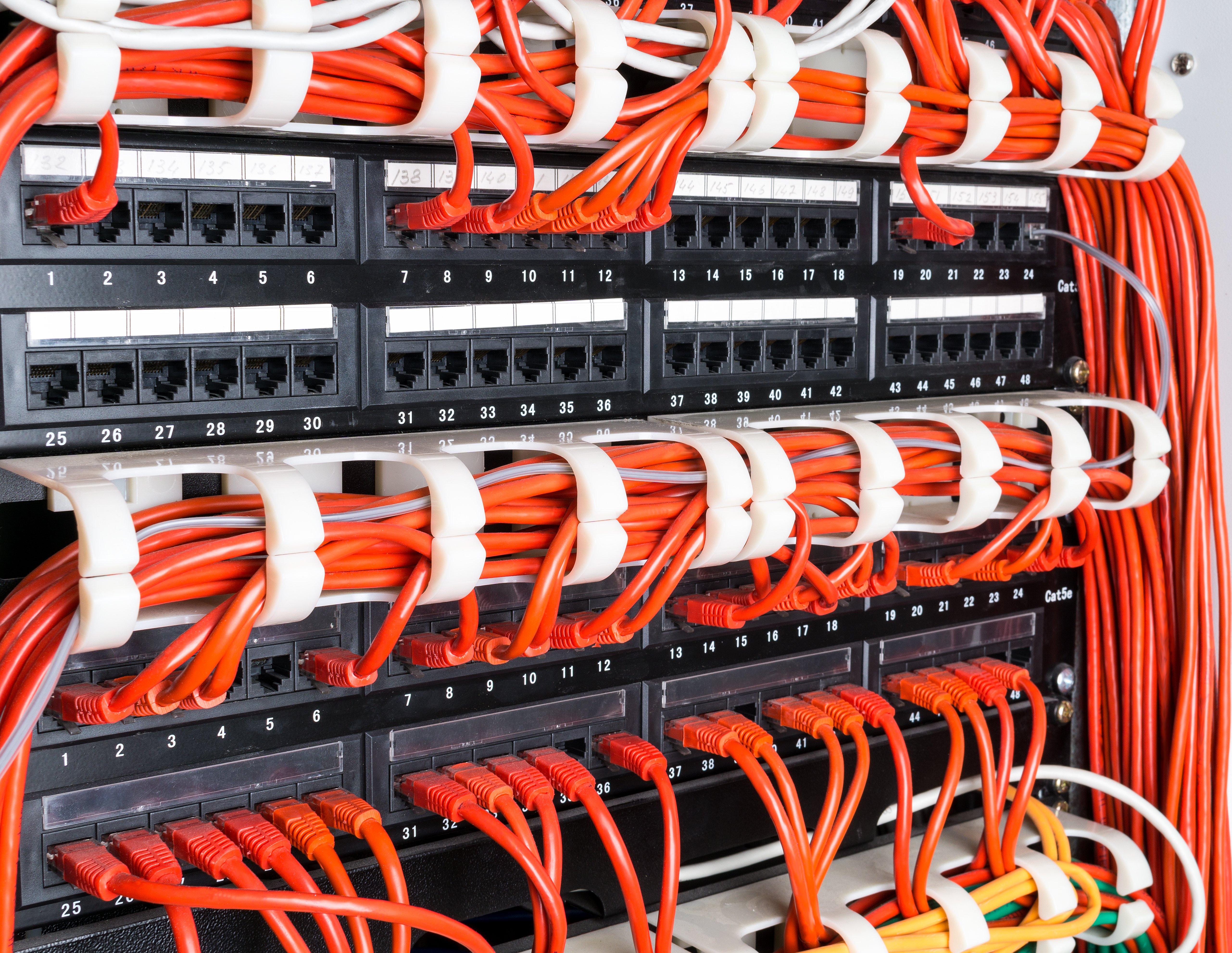 Wiring Install Ethernet Cat 5 Cat 6 Patch Panel Network Cable